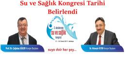 3. Uluslararası Su ve Sağlık Kongresi Tarihi Belirlendi