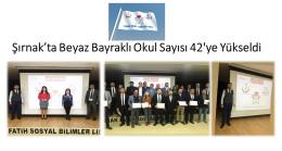 Şırnak'ta Beyaz Bayraklı Okul Sayısı 42'ye Yükseldi