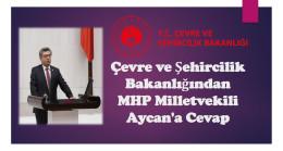 Çevre ve Şehircilik Bakanlığından Milletvekili Aycan'a Cevap