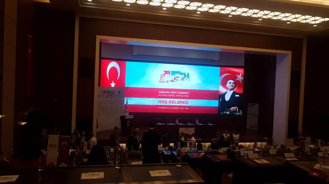 Ankara Kent Konseyi Genel Kuruluna Misafir Olarak Katıldık.