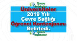 Üniversiteler 2019 Yılı Çevre Sağlığı Öğrenci Kontenjanı Belirledi.