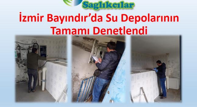 İzmir Bayındır'da Su Depolarının Tamamı Denetlendi